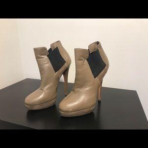 Casadei Grey Platform Booties Size 5